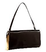 高缇耶Jean Paul Gaultier2013秋冬系列黑色小牛皮质手拎包