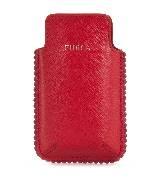 Furla芙拉红色皮革手机套