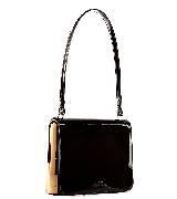 高缇耶Jean Paul Gaultier2013秋冬系列黑色小牛皮手拎包