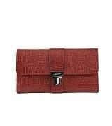 Jean Paul Gaultier红色皮革手拿包