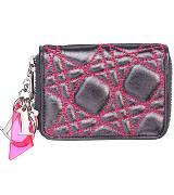 Dior迪奥Christian Dior黑色绗缝羊皮钱包