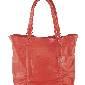 Furla芙拉红色皮革购物袋