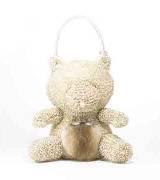 Anteprima米色线圈小熊手提包