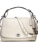 Coach 2013春季女士LEGACY 白色小挎包