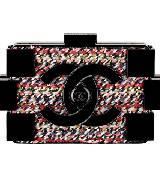 Chanel香奈儿黑色斜纹软呢化妆盒