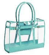 H&M 草绿色透明购物袋