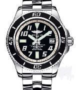 百年灵Breitling 超级海洋系列 精钢表壳-黑色表盘银色内圈-专业型精钢表链