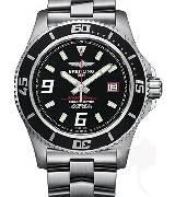 百年灵Breitling 超级海洋系列 精钢表壳-黑色表盘-深红色秒针-专业型精钢表链