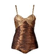 Burberry2013年春夏金属感棕色吊带连体衣
