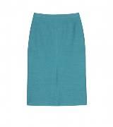 Burberry Prorsum蓝绿色直筒半裙