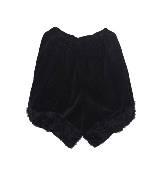 川久保玲2012秋冬系列黑色褶边短裤