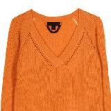 Burberry Prorsum橙色V领镂空针织衫
