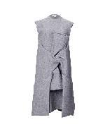 Celine2013冬季系列灰色无袖长裙