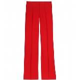 Valentino大红色直筒长裤