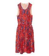 Carven红色无袖连衣裙