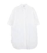 赛琳(Celine)2013春夏圆弧底边白色短袖衬衫