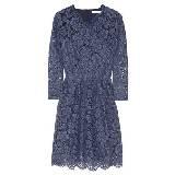 Carven蓝色蕾丝连衣裙