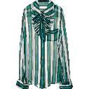 Louis Vuitton条纹印花真丝系领衬衫