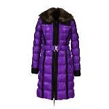 DKNY JEANS紫色羽绒大衣