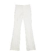 赛琳(Celine)2013春夏白色印花微喇长裤