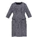 Hugo Boss灰色七分袖连身裙