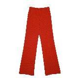 赛琳(Celine)2013春夏红色纵条纹阔腿裤