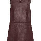 Celine赛琳枣褐色连身皮裙