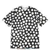 赛琳(Celine)2013春夏黑底白色波点圆领短袖衫