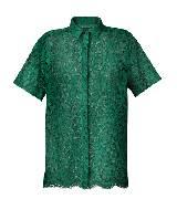 Burberry2013年春夏绿色蕾丝短袖衬衫
