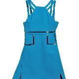 Versace亮蓝色连身裙
