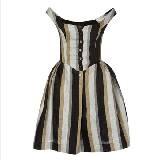Vivienne Westwood 竖条纹蓬蓬连衣裙