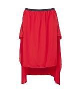 DKNY红色半身裙