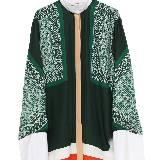 Celine赛琳几何纹路丝绸上衣