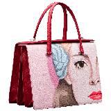 Prada普拉达2014春夏粉色肖像单肩包