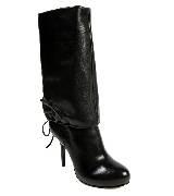 DKNY黑色皮质长靴