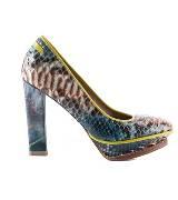 Jean Paul Gaultier高缇耶蓝色蛇皮高跟鞋