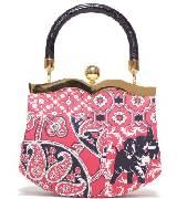 Miu Miu缪缪粉色系图样款式手拎包
