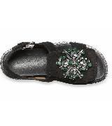 Marni黑色宝石镶嵌平底凉鞋