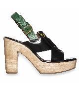 Marni拼色漆皮厚底粗跟鞋