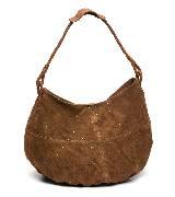 MANGO棕色麂皮背包