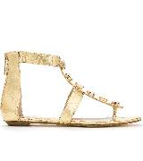 Michael Kors金色蟒蛇纹宝石凉鞋
