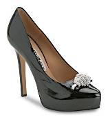 Salvatore Ferragamo黑色漆皮高跟鞋