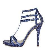Loewe蓝色高跟鞋