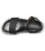Marni黑色帆布平底凉鞋