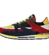 Moschino彩色拼接运动鞋款二