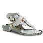 菲拉格慕(Salvatore Ferragamo)2013春夏白皮质编制衍缝凉鞋