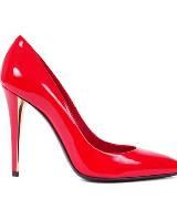 圣罗兰YSL大红色皮革高跟鞋