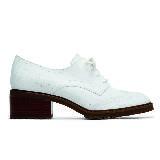 Michael Kors Holiday2015度假系列矮跟皮鞋白色