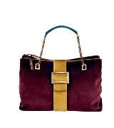 Roger vivier紫色丝绒手提包