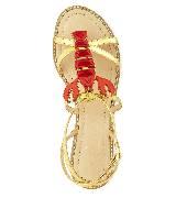 Kate Spade New York凯特·丝蓓2013节日系列金色凉鞋